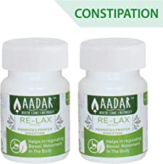Re-LAX Medicine for Constipation Relief, Bowel Care and Gastric Wellness by AADAR – 60 Capsules (Pack of 2)