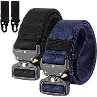 Chalier 2 Pacchi Cintura Uomo Tattica, Cintura Militare Tela Regolabile in Nylon Stile Cinta con Fibbia in Metallo a…