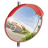 Relaxdays 10023700 Specchio Stradale Convesso 60 Cm, Resistente alle Intemperie, Infrangibile, per Esterni & Interni, con Sta