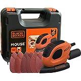 Black+Decker Driehoekige slijper Mouse (55 Watt, 133 x 95 mm, met stofzuigeradapter, voor slijpen/polijsten, klittenbandfixsy