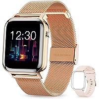 GOKOO Smartwatch Damen Frauen 1.4inch Zoll IPS HD-Touchscreen Fitness Tracker IP68 Wasserdicht SpO2 Stoppuhr…