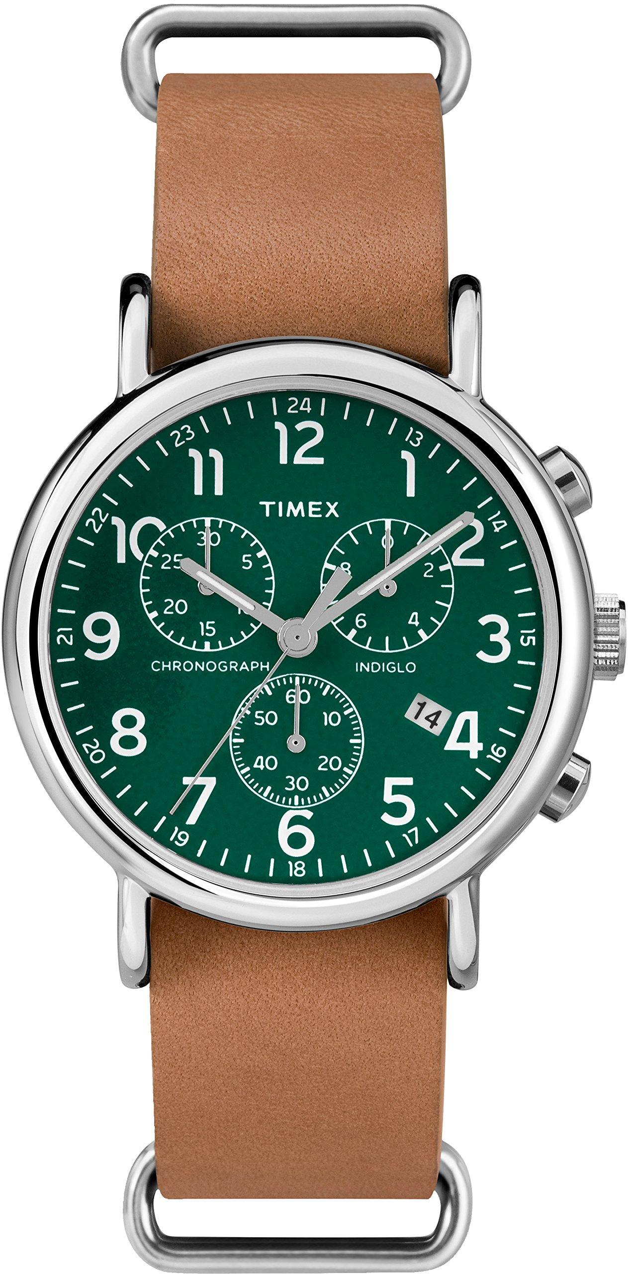 Timex Reloj Analógico para Hombre de Cuarzo con Correa en Cuero TWC066500
