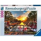 Ravensburger- Puzzle Vélos à Amsterdam 1000 pièces, 19606