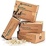 Chinchilla® 4er-Pack Bambus Wattestäbchen (800 Stück) 100% Biologisch Abbaubar, Kompostierbar, Vegan & Nachhaltig