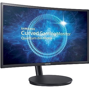"Samsung C27FG70 Monitor Curvo VA da Gaming, 27"" Full HD, 1920 x 1080, 144 Hz, 1 ms, FreeSync, DP, HDMI, 16.7M di Colori, sRGB 125%, Game Mode, Quantum Dot, Base Semplice, Nero"