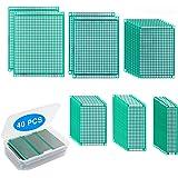 Yizhet 40pcs Placas Circuito Impreso 6 Tamaños PCB Prototipo de Doble Cara para Soldadura Bricolaje y Proyecto Electrónico