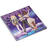 Depesche 11452 stickerboek TOPModel Dress Me Up POPSTAR, ca. 18 x 17,5 cm, met 24 geïllustreerde pagina's en 11 stickervel om