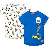 Disney Camiseta de Manga Corta para niños Paquete de 2 Mickey Mouse