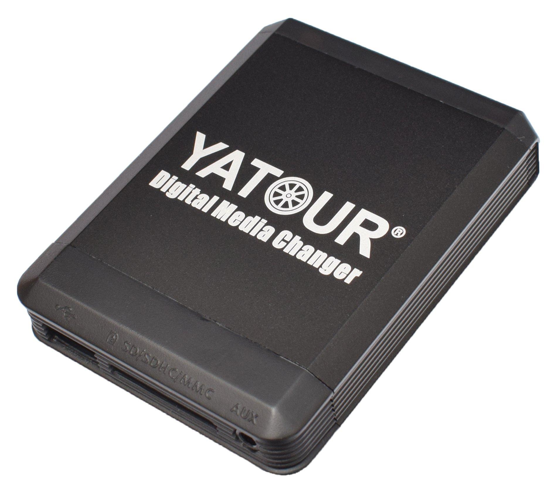Yatour-YT-M07-BEK-Musik-Adapter-CD-Wechsler-Audio-Interface-USB-SD-Aux-passend-fr-Becker-Radios-CD-Wechsler-MP3-Player