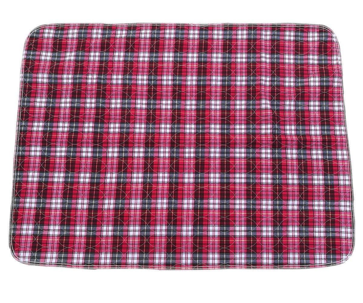 Jiexi® 90*120cm grande rosso puro cotone TPU coprimaterasso impermeabile, tappetino fasciatoio, cop