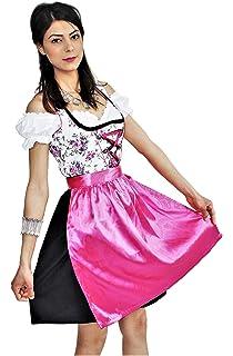 Dirndl Oktoberfest Trachtenkleid Tracht Bluse Schürze Kleid ABVERKAUF SALE