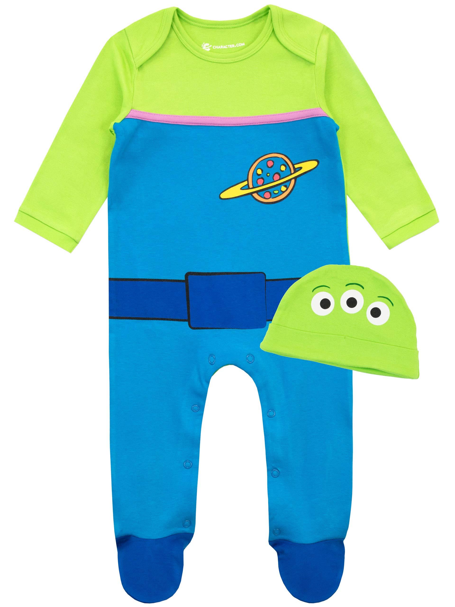 Disney Conjunto de Pijama Entera y Gorro para Niños Bebés Toy Story 1