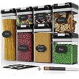 Lot de 7 boîtes hermétiques Chef's Path — Boîtes de conservation alimentaire pour rangement de la cuisine — En plastique tran