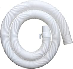 Neerjharini Universal Flexible Plastic Waste Water Outlet Pipe Hose, 1.3M (White)