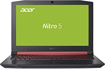 Acer Nitro 5 AN515-51-55VA 39,6 cm (15,6 Zoll Full HD IPS Matt) Gaming Laptop (Intel Core i5-7300HQ, 8GB RAM, 1TB HDD, GeForce GTX 1050, Win 10) Schwarz/Rot