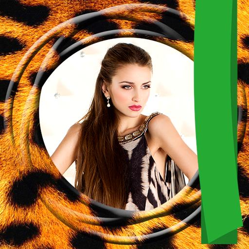 Tierdruck Foto-Editor Leopard Rosette