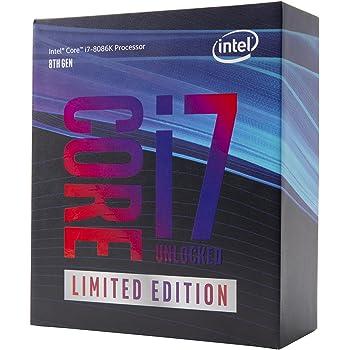 Intel BX80684I78086K Intel Core i7 8086K, 6 Core, 4.0GHz, 5.0GHz Turbo, 12MB Cache, 1200MHz GPU, 95W CPU, Argento