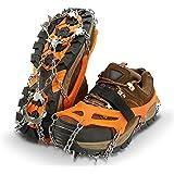 IPSXP Tacchette da Ghiaccio, 19 Tacchetti da Corsa Antiscivolo Trazione del Ghiaccio da Neve per Scarponi, Usati per Trekking