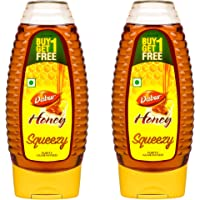 Dabur Honey :100% Pure World's No.1 Honey Brand with No Sugar Adulteration , Squeezy Pack - 400g (Buy 1 Get 1 Free)
