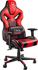 Diablo X-Fighter Gaming Stuhl Bürostuhl, Verstellbare Armlehnen 3D, Air Mesh, Regulierbare Lendenwirbelstütze, Wippfunktion, Kunstlederbezug, Farbwahl