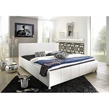 sette notti polsterbett bett 100x200 wei bett mit. Black Bedroom Furniture Sets. Home Design Ideas