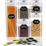 SAWAKE Förvaringsburkar set, kryddburkar matlagringsbehållare set förvaringslåda kök förvaringsbehållare med lock, BPA-fri pl