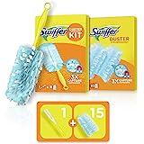 Swiffer Duster Kit, 1 Plumeau + 15 Recharges, Parfum Febreze, Plumeau Attrape-Poussière