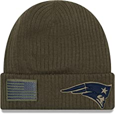 New Era New England Patriots Beanie On Field 2018 Salute to Service Knit