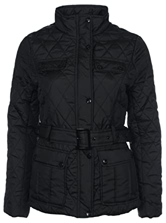 BRAND NEW GIRLS PADDED QUILTED WINTER JACKET TOP BLACK AGE 7 8 9 ...