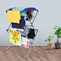 HOMACE Sumo Stainless Steel Foldable/Space Saving Cloth Dryer Stand Extra Strong Heavy Duty Double Rank 13 Layer/Rod…