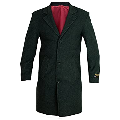 Mens Wool Cashmere Coat Jacket Outerwear Trench Overcoat Warm ...