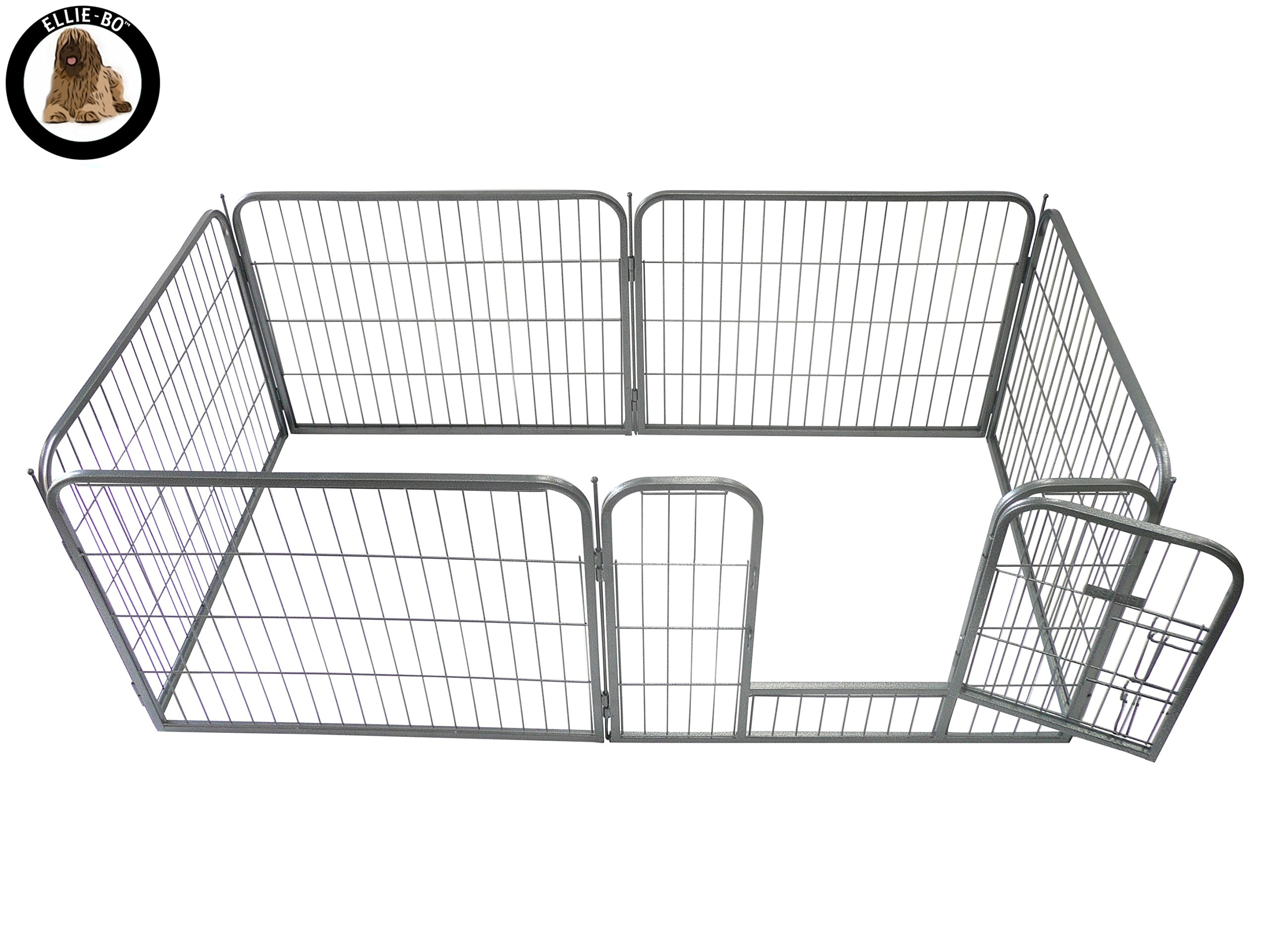 Ellie-Bo Heavy Duty Modular Puppy Exercise Play/Whelping Pen, 158 x 77 x 60 cm, 6 Pieces