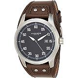 Akribos XXIV Men's Leather Cuff Strap Watch