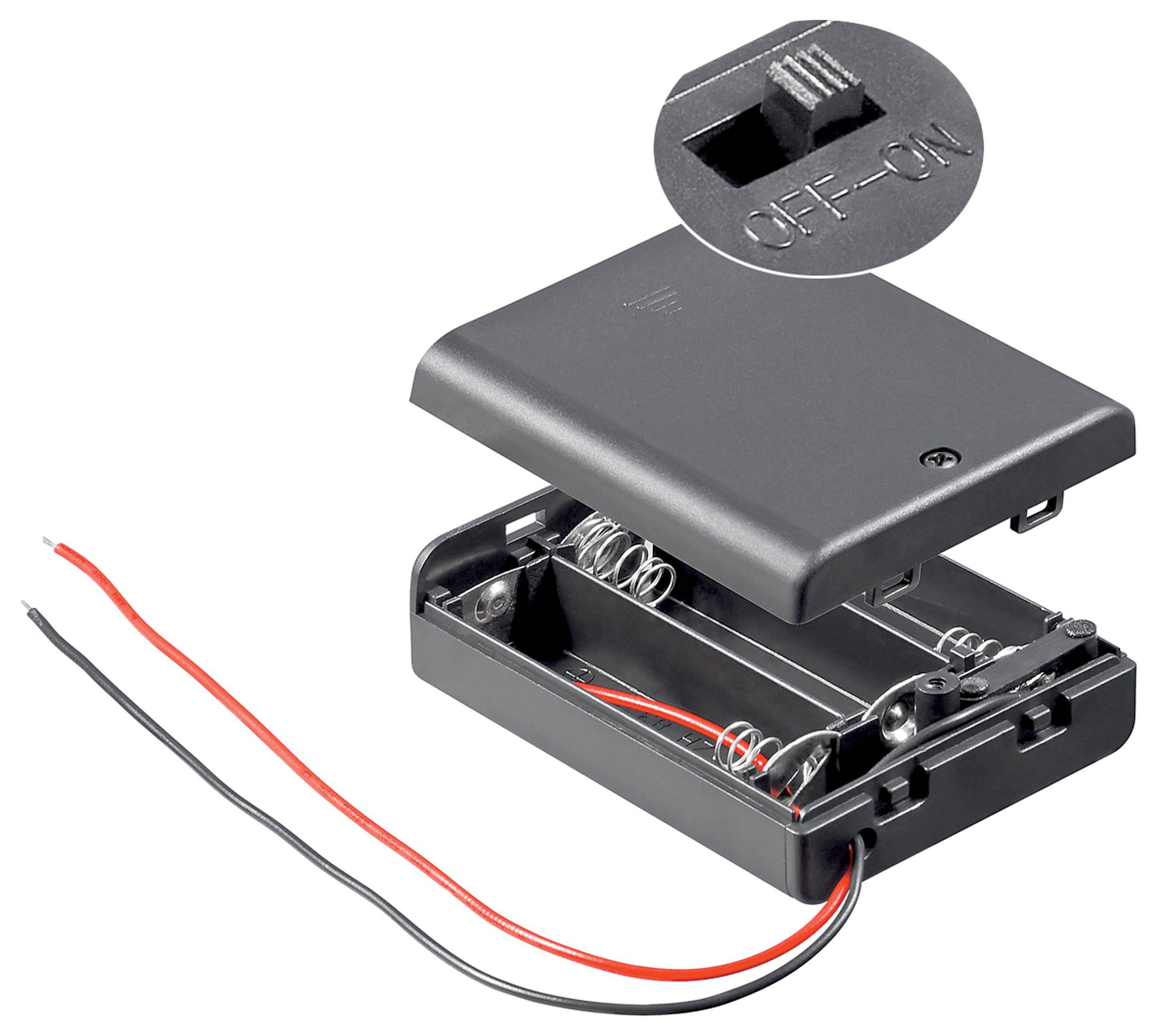 Wentronic BH AA 3xAKGS Passive holder Nero