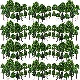 BESTZY 50 st modellträd blandad modell träd diorama träd tåg träd järnväg landskap för gör-det-själv landskap naturgrön (30 m