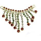 The Holy Mart Deity Multicolor Diamond Studded Necklace/Belt/kamarband 4 cm   Deities Jewellery  Durga Neckalce