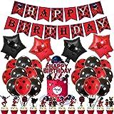 Decoración de cumpleaños, maravillosos accesorios de fiesta para superhéroes, niñas y niños. Incluye temática de pancartas y