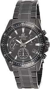 Casio EDIFICE Orologio, Robusta Cassa, 10 BAR, Nero, Uomo con Cinturino in Acciaio Inox EFV-540DC-1AVUEF