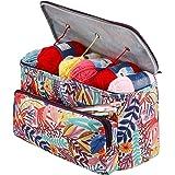 Sac à Tricoter, Sac Tricot Rangement et Organisateurs à Tricoter, Sac de Projet de Crochet pour Les Voyages, Sac Fourre-Tout,