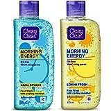 Clean & Clear Morning Energy Aqua Splash, Blue, 150 ml & Clean & Clear Morning Energy Lemon Fresh Face Wash, Yellow, 150 ml