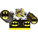 Batman Party Supplies Tableware Bundle Pack for 16 Guests - Includes 16 Dinner Plates, 16 Dessert Plates, 16 Dinner Napkins,