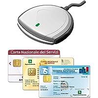 SCR3310 V2.0 Lettore USB per la Carta Nazionale e Regionale dei Servizi (CNS, CRS), Tessera Sanitaria (TSN), attivazione…