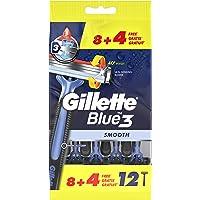 Gillette Blue3 Lamette da Uomo Usa e Getta, Confezione da 8+4