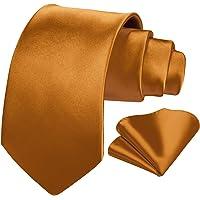 HISDERN Fazzoletto da cravatta bianco per uomo Set classico da matrimonio con cravatta fazzoletto da taschino