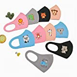 Washable Children's Mask (3 Pcs) Multicolor with cartoon characters