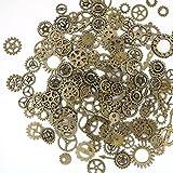 Steampunk Gears,40 PCS Antique Steampunk Engrenages en Métal pour Boucles d'oreilles Collier Bracelet Bijoux DIY Making