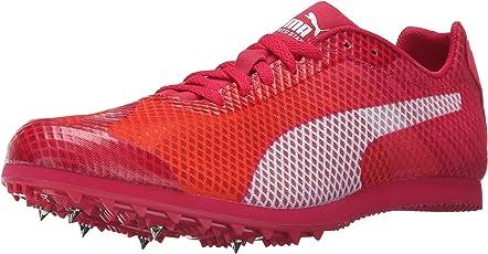 Puma Women's Evospeed Star V4 Track Spike Shoe, Fluorescent Peach/White/Rose Red/White, 12 B US