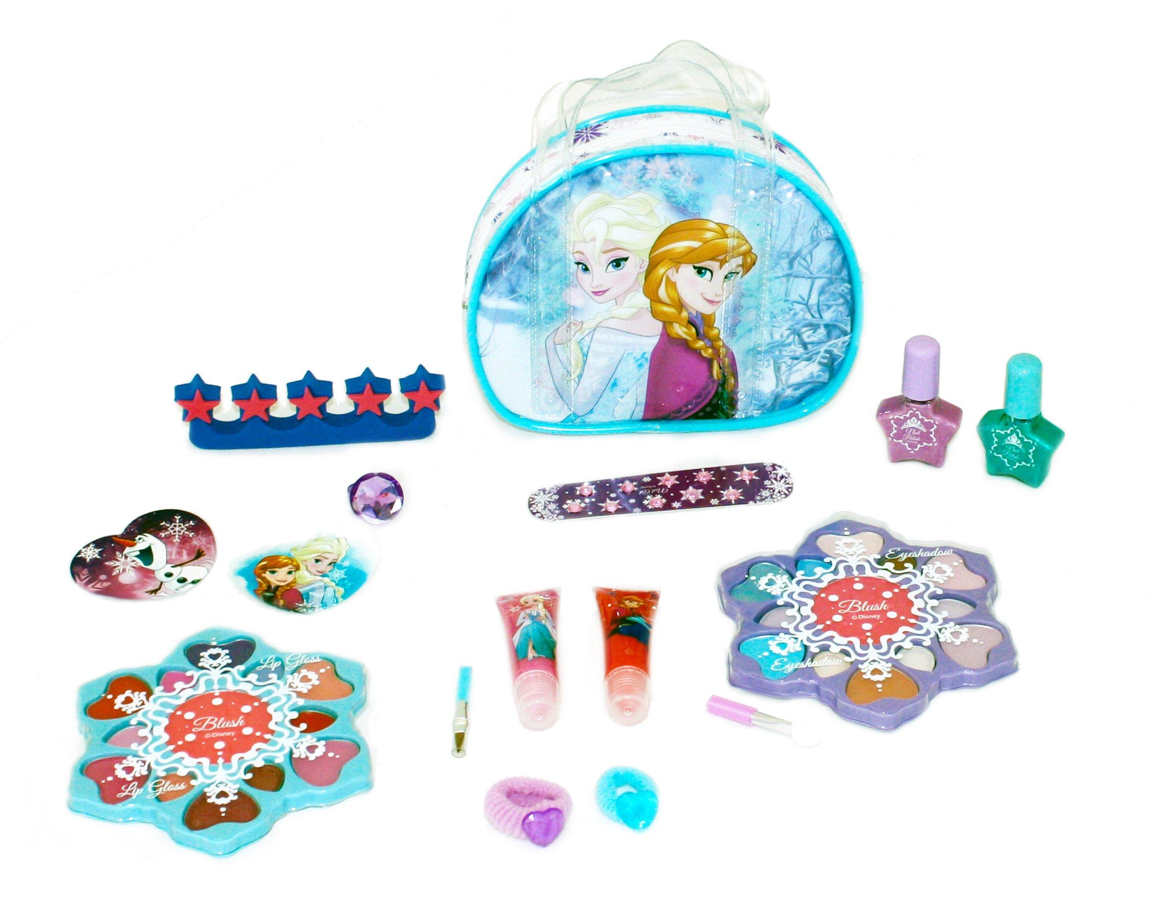 81Jo nfK42L - Disney Frozen - Icy Adventures Beauty Trolley, pack de maquillaje (Markwins 9607310)