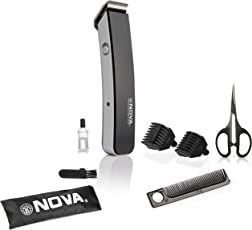 Nova NHT - 1047 Pro Skin Advance Rechargeable Cordless Beard Trimmer for Men(Black)