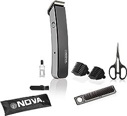 Nova NHT - 1047 Pro Skin Advance Rechargeable Cordless Beard Trimmer for Men(Black)